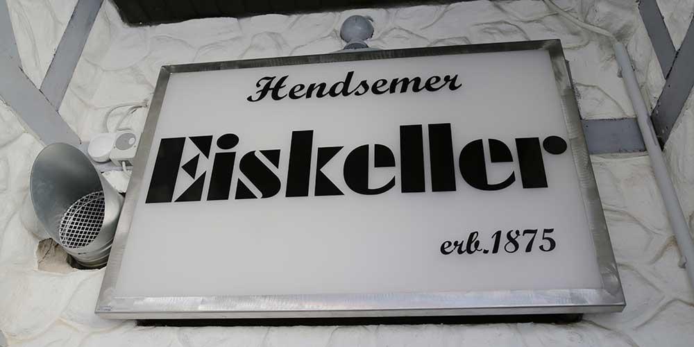 Hendsemer Eiskeller Schild